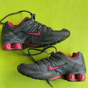 Nike Shox pink and gray women's sneakers size 6